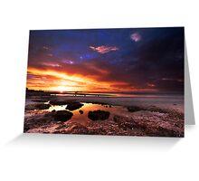 Sunset at Moonta Bay Greeting Card