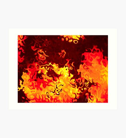 ...on fire! Art Print