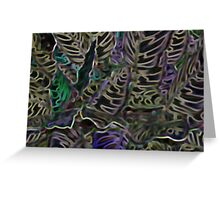 NEON FERNS Greeting Card
