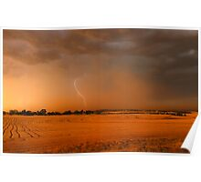 Storm over Stubble Poster