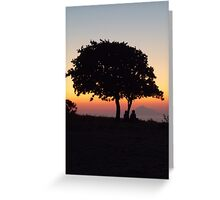 An African Sunset Greeting Card