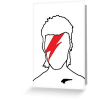 David Bowie - Aladdin Sane Greeting Card