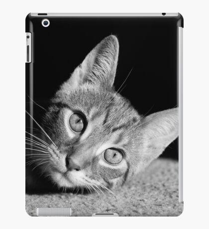 Kitten - Monochrome iPad Case/Skin
