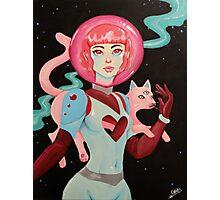Spacegirl Photographic Print