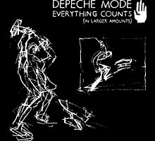 "Depeche Mode : Everything Counts 12"" -2- White by Luc Lambert"