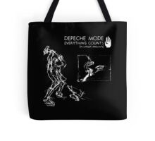 """Depeche Mode : Everything Counts 12"""" -2- White Tote Bag"""
