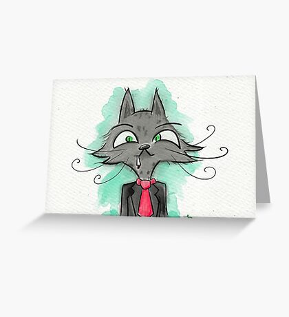 Smart Kitty Greeting Card