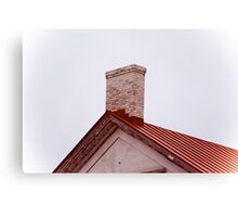 Red Roof Line Canvas Print