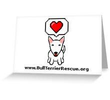 8-Bit Bull Terrier Rescue Greeting Card