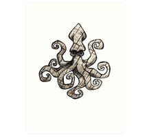 brittle squid Art Print