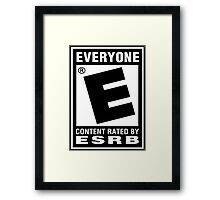 Content Rated by ESRB Framed Print