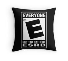 Content Rated by ESRB Throw Pillow