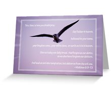 Seagull with the Lord's Prayer Greeting Card