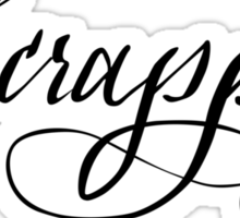 Scrappy hand lettering calligraphy Sticker