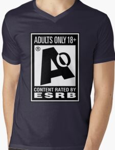 Adults Only! Mens V-Neck T-Shirt