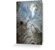 Moon Howl  Greeting Card