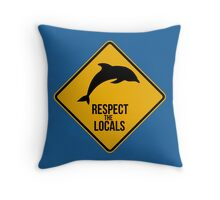 Respect the dolphins Throw Pillow