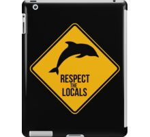 Respect the dolphins iPad Case/Skin
