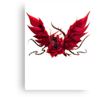 Black Rose Dragon Shirt Canvas Print