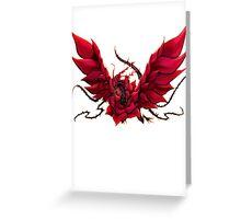 Black Rose Dragon Shirt Greeting Card