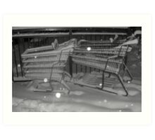 Shopping carts on strike Art Print