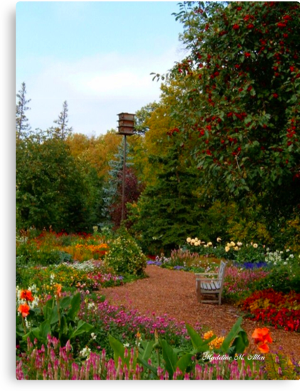 The Bench in the Garden  by Madeline M  Allen