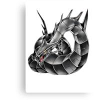 Dark Cyber Dragon Canvas Print