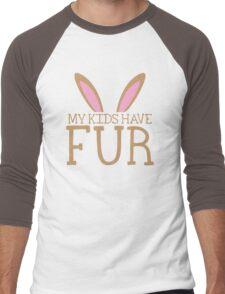 MY KIDS have fur cute bunny ears Men's Baseball ¾ T-Shirt