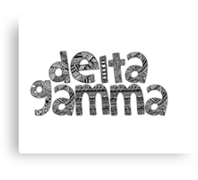 Delta Gamma Bubble Letters Canvas Print
