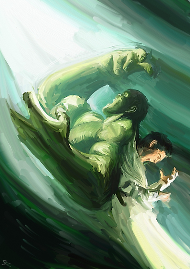 The Impressionable Hulk by stevontoast