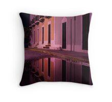 Old Reflections in San Juan Throw Pillow