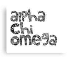 Alpha Chi Omega Bubble Letters Canvas Print