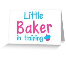 little baker in training Greeting Card