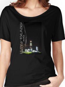 Montauk Point Light. Women's Relaxed Fit T-Shirt