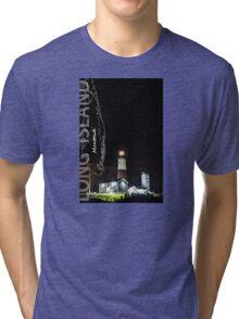 Montauk Point Light. Tri-blend T-Shirt