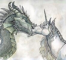 Dragon and Unicorn by Katherine Alexandra Haze