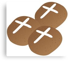 Hot cross buns for Easter Canvas Print