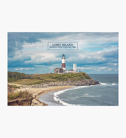 Montauk Point Light. Photographic Print