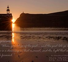 """Sunset over Port Erin Bay"" An International Collaboration: Artwork by: KathyWaldron - Bolton, UK and Quote by: Leon A. Walker - Florida, USA by kathywaldron"