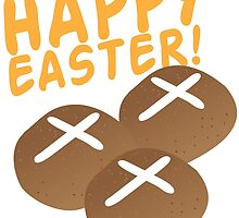 Hot cross buns HAPPY EASTER by jazzydevil