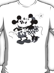 Vintage Mickey And Minnie Mouse  T-Shirt