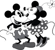 Vintage Mickey And Minnie Mouse  by FleurGraphics
