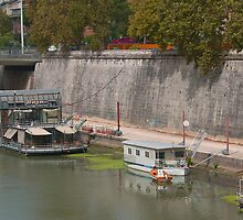 Houseboats on the Tiber II by Tom Gomez