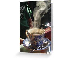 Morning Coffee at the B&B Greeting Card