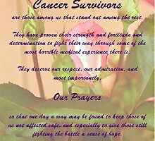 Cancer Survivors Poster by Don Wright IPA