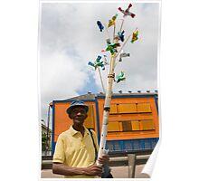 Pinwheels man Poster