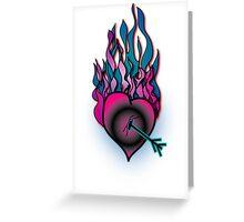 Burning Heart Greeting Card