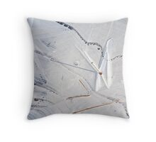 Icy Palette Throw Pillow