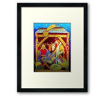 Nativity Candle Votive Framed Print