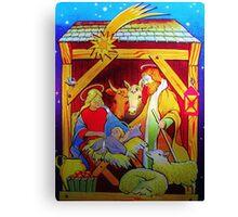 Nativity Candle Votive Canvas Print